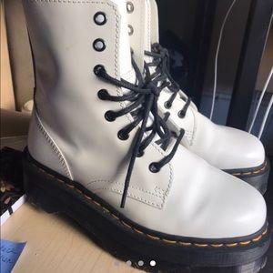 Dr marten white Jadon size 7 women's platform boot